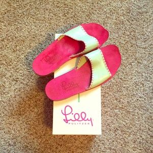 Lilly Pulitzer Leather Sandals